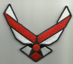 AIR FORCE LOGO EAGLE WINGS RED WHITE PATCH