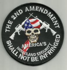 AMERICA'S HOMELAND SECURITY- 2nd AMENDMENT MILITARY PATCH