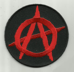 ANARCHY SYMBOL PATCH - RED