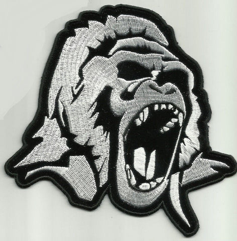ANGRY GORILLA HEAD BIKER PATCH