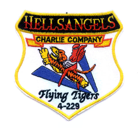 ARMY 4th Battalion 229th Aviation Regiment C Company Military Patch HELLS ANGELS FLYING TIGERS