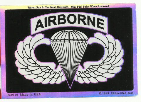 ARMY PARATROOPER AIRBORNE STICKER A