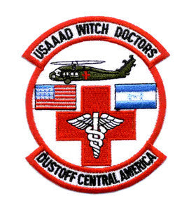ARMY 1st Battalion 228th Aviation Air Ambulance Military Patch WITCH DOCTORS DUSTOFF CENTRAL AMERICA