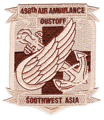 ARMY 498th Aviation Medical Company Air Ambulance Dustoff Military Patch OIF SOUTHWEST ASIA