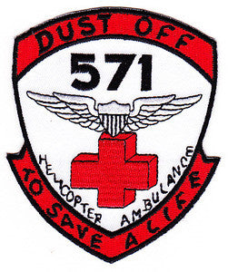 ARMY 571st Aviation Medical Company Air Ambulance Military Patch DUSTOFF TO SAVE A LIFE