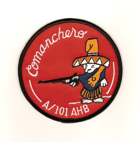 ARMY 101st Aviation Assault Helicopter Battalion Military Patch COMANCHERO