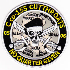 ARMY 155th Aviation Attack Regiment C Company Military Patch CUTTHROATS NO QUARTER GIVEN OIF 05-06