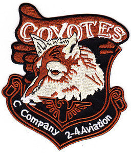 ARMY 2nd Battalion 4th Aviation Regiment C Company Military Patch COYOTE'S
