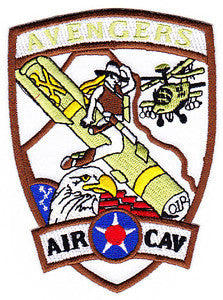 ARMY 1st Battalion 227th Aviation Attack Reconnaissance Regiment 1st Air Cavalry Military Patch AVENGERS
