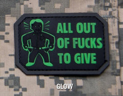 ALL OUT F's TO GIVE - GLOW - TACTICAL COMBAT BADGE MORALE PVC RUBBER VELCRO MILITARY PATCH