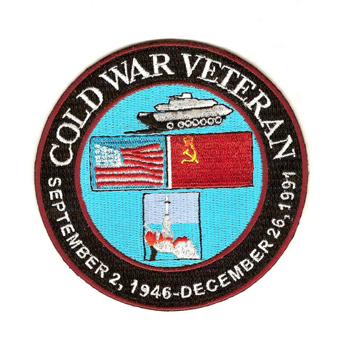 Cold War Veteran September 2nd 1946 - December 26th 1991 Military Patch