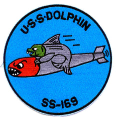 SS-169 USS DOLPHIN Diesel Submarine Military Patch