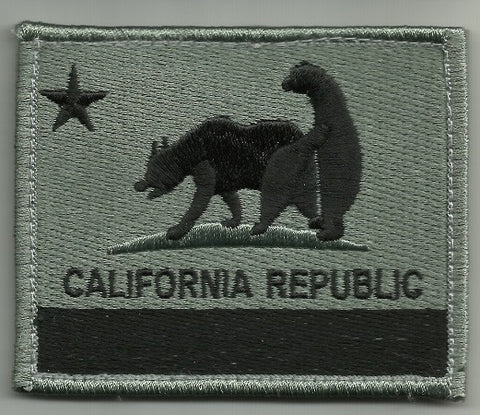 "CALIFORNIA REPUBLIC ""BAD BEARS"" HOOK BACKING PATCH - SWAT"