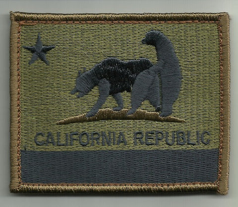"CALIFORNIA REPUBLIC ""BAD BEARS"" HOOK BACKING PATCH - FOREST"