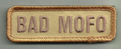 BAD MOFO VELCRO PATCH - DESERT