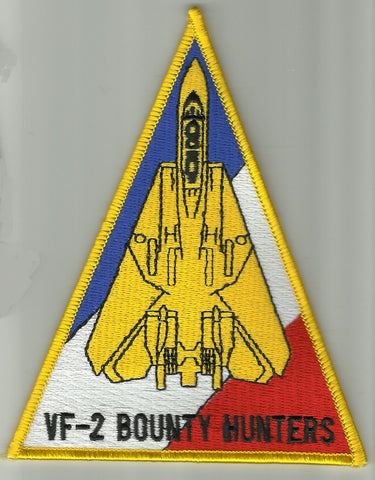 NAVY VF-2 Aviation Fighter Squadron Military Patch BOUNTY HUNTERS TRIANGLE