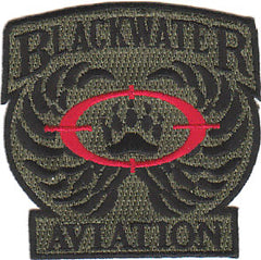 OEF / OIF Private Security Contractor Military Patch BLACKWATER AVIATION