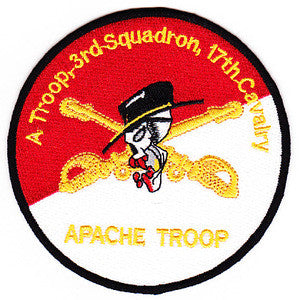 ARMY 3rd Squadron 17th Cavalry Regiment Military Patch APACHE TROOP