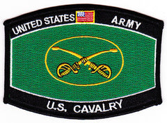 ARMY U.S. Cavalry Regiment Military Occupational Specialty MOS Military Patch CROSSED SABERS