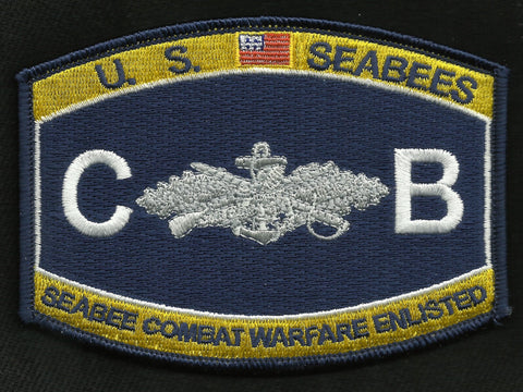 US SEABEES CB NAVY COMBAT WARFARE ENLISTED RATING PATCH
