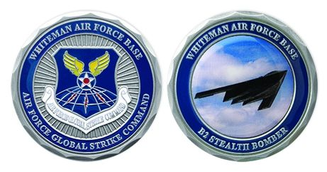 Global Strike Command Whiteman Air Force Base Stealth Bomber Challenge Coin