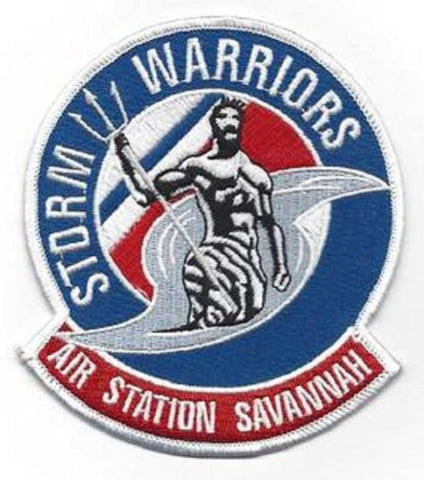 US COAST GUARD AIR STATION SAVANNAH GEORGIA MILITARY PATCH - STORM WARRIORS