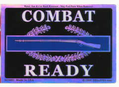 COMBAT READY CIB MILITARY STICKER