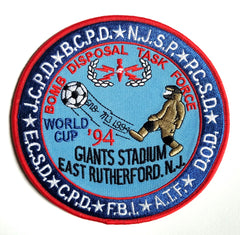 Bomb Disposal Task Force Giants Stadium E. Rutherford NJ FBI DOD ATF Collectors Patch