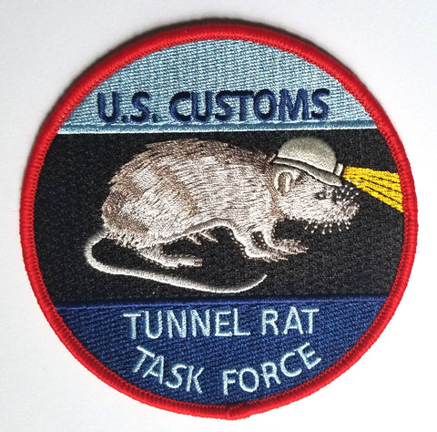 US Customs Border Patrol Tunnel Rat Collectors Patch
