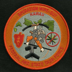 Federal and State Task Force HAWAII - Operation Wipe-Out DEA Patch