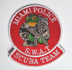 Miami Police SWAT Scuba Team Frog Man Patch