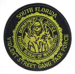 Gang Task Force FBI DOJ S. Florida Collectors Patch