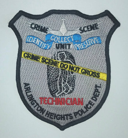 Crime Scene Technician Arlington Heights POLICE Collectors Patch