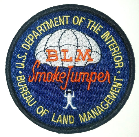 Bureau of Land Management BLM Smoke Jumper Firefighter Patch