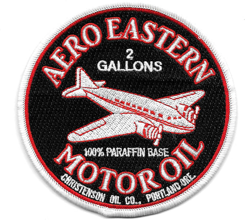 Aero Eastern Motor Oil Vintage Style Patch