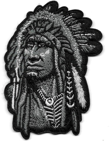 Indian Chief Native American Outlaw Patch