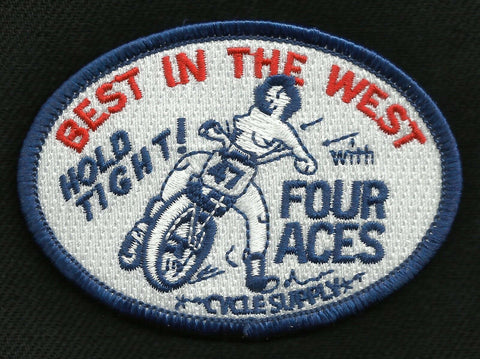 Best in the West Motorcycle Biker Patch - FOUR ACES