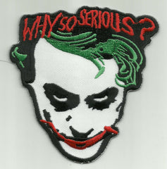 """WHY SO SERIOUS?"" JOKER FACE PATCH - Version B"
