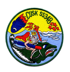 SS-348 USS CUSK Diesel Submarine Military Patch