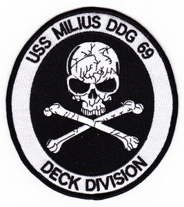 DDG-69 USS MILIUS US NAVY Military Patch Guided Missile Destroyer Military Patch DECK DIVISION