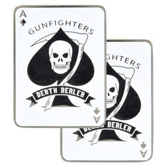 ACE OF SPADES  DEALER OF DEATH  GUNFIGHTERS  CHALLENGE COIN