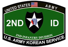 ARMY 2nd Infantry Division Military Occupational Specialty MOS Military Patch U.S. ARMY KOREAN SERVICE