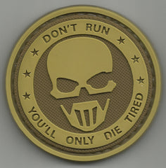 DON'T RUN GHOSTS 3D PVC RUBBER MORALE PATCH - DESERT
