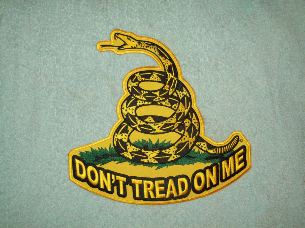 Don T Tread On Me Biker Military Patch Large Usmilitarypatch Com