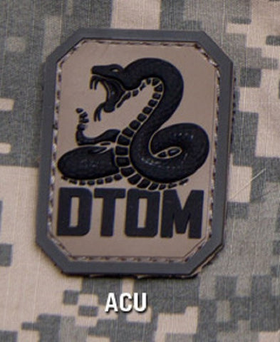 DTOM Hook Backing PVC Rubber Patch - ACU