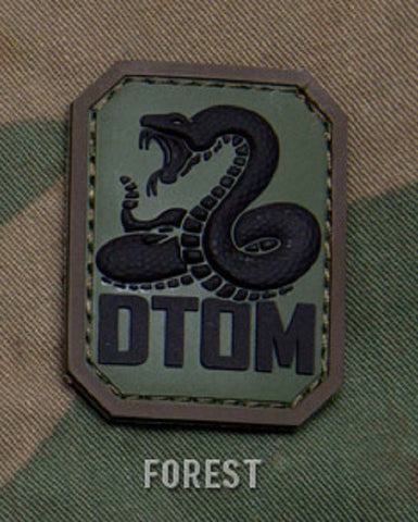 DTOM TACTICAL COMBAT BADGE MORALE PVC VELCRO MILITARY PATCH - FOREST