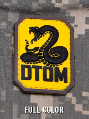 DTOM TACTICAL COMBAT BADGE MORALE PVC VELCRO MILITARY PATCH - FULL COLOR