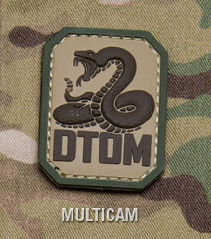 DTOM TACTICAL COMBAT BADGE MORALE PVC VELCRO MILITARY PATCH - MULTICAM