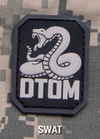 DTOM TACTICAL COMBAT BADGE MORALE PVC VELCRO MILITARY PATCH - SWAT