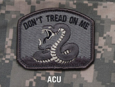 DON'T TREAD ON ME TACTICAL COMBAT BADGE VELCRO MILITARY MORALE PATCH - ACU